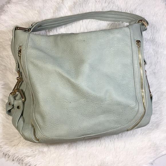 Urban Expressions Handbags - Mint and gold urban expressions bag